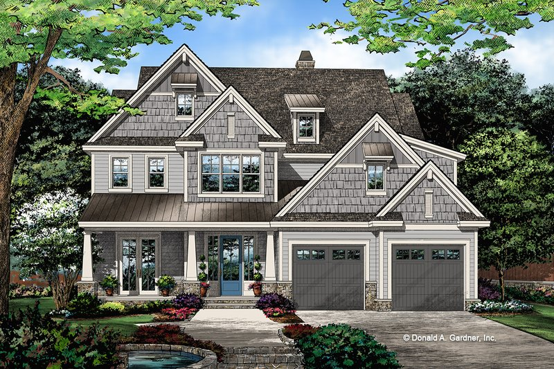 Architectural House Design - Craftsman Exterior - Front Elevation Plan #929-1079