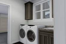 Ranch Interior - Laundry Plan #1060-12