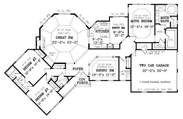Farmhouse Floor Plan - Main Floor Plan Plan #456-18