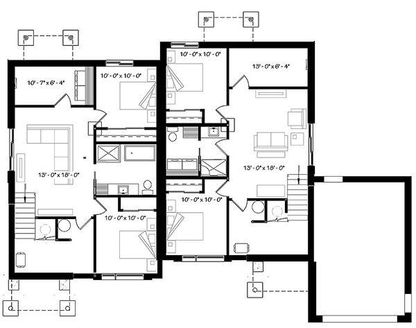 House Plan Design - Finished Basement Level