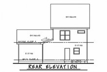 Dream House Plan - Traditional Exterior - Rear Elevation Plan #20-2339