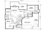 European Style House Plan - 6 Beds 3.5 Baths 2933 Sq/Ft Plan #5-369 Floor Plan - Main Floor Plan