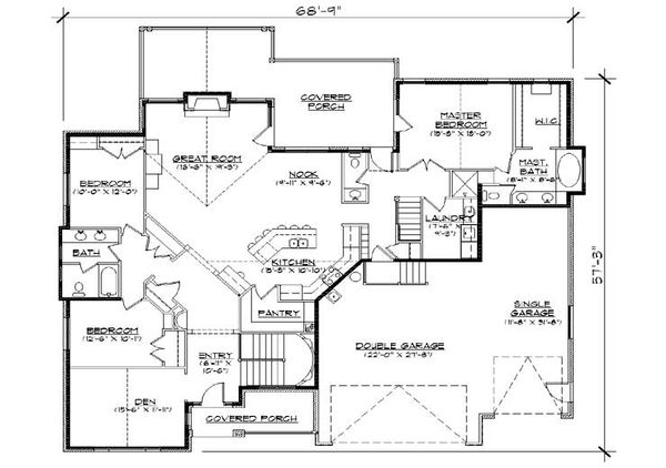European Floor Plan - Main Floor Plan Plan #5-369