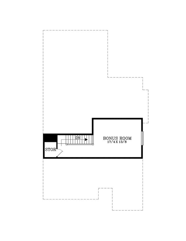 Craftsman Floor Plan - Upper Floor Plan Plan #53-602