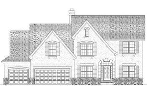 European Exterior - Front Elevation Plan #20-1720
