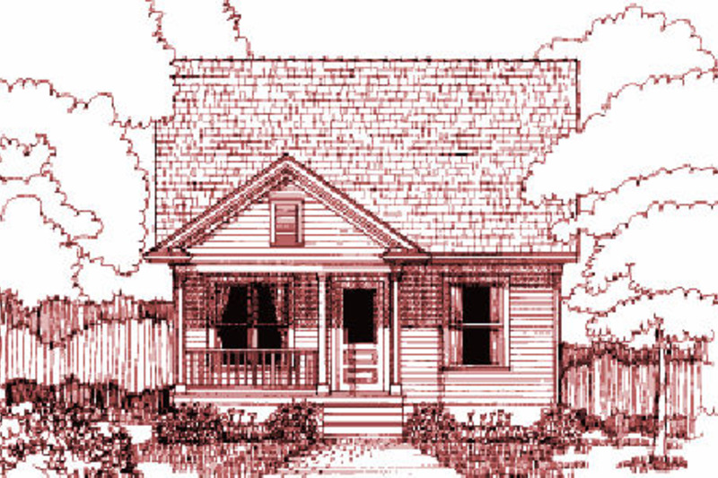 Cottage Exterior - Front Elevation Plan #79-140 - Houseplans.com