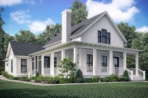 Dream House Plan - Farmhouse Exterior - Front Elevation Plan #1067-5