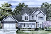 Traditional Style House Plan - 4 Beds 2.5 Baths 1871 Sq/Ft Plan #316-118 Exterior - Front Elevation