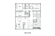 Modern Style House Plan - 3 Beds 3 Baths 2622 Sq/Ft Plan #542-17 Floor Plan - Main Floor Plan