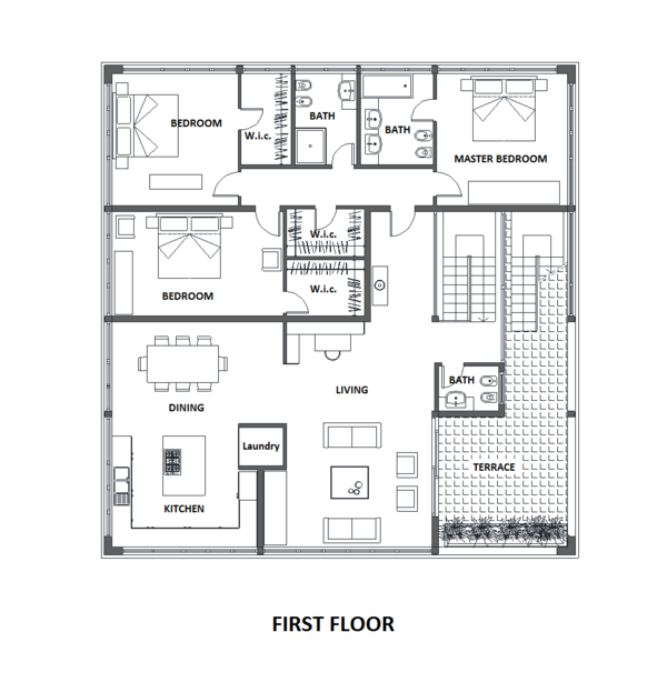 Modern Floor Plan - Main Floor Plan Plan #542-17