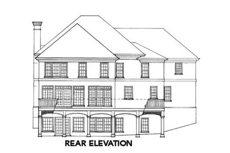 Colonial Exterior - Rear Elevation Plan #429-7 - Houseplans.com