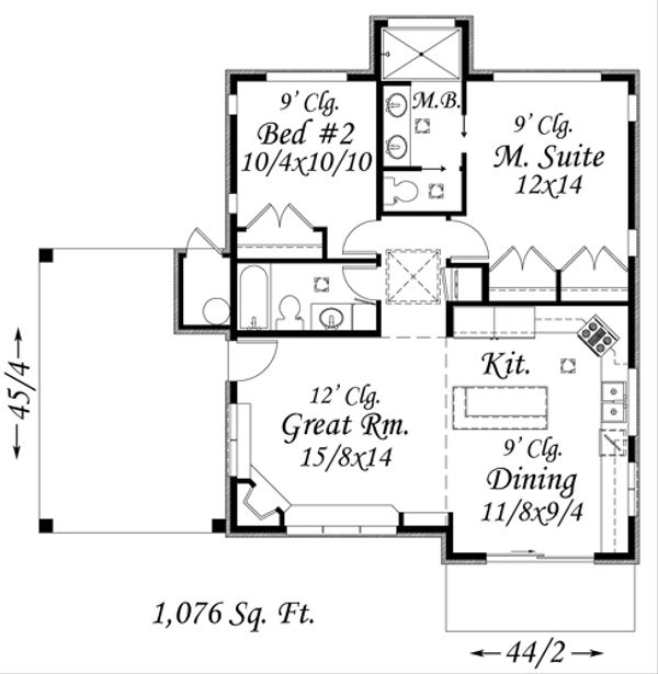Modern Floor Plan - Main Floor Plan Plan #509-8