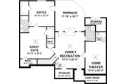 Craftsman Style House Plan - 3 Beds 2 Baths 1800 Sq/Ft Plan #56-634 Floor Plan - Lower Floor Plan