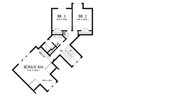 Craftsman Floor Plan - Upper Floor Plan Plan #48-647