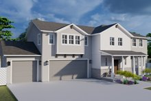 Dream House Plan - Traditional Exterior - Front Elevation Plan #1060-32