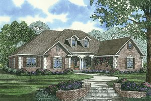 European Exterior - Front Elevation Plan #17-2167