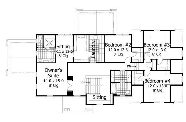 Floor Plan - Upper Floor Plan Plan #51-540