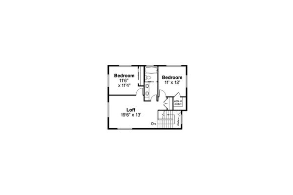 Modern Floor Plan - Upper Floor Plan #124-1207