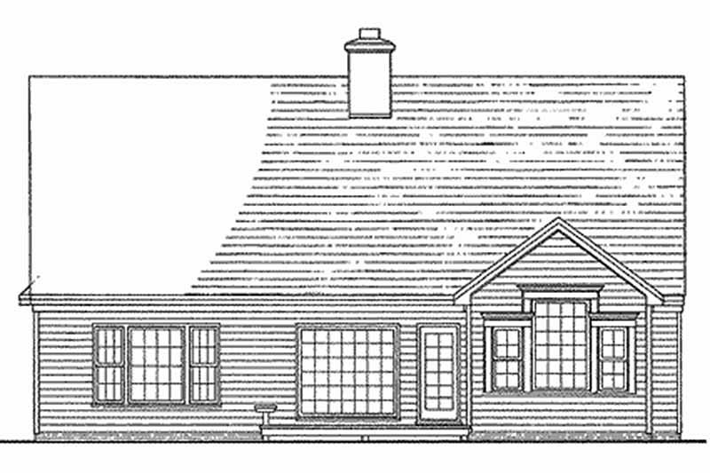 Traditional Exterior - Rear Elevation Plan #137-196 - Houseplans.com