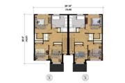 Contemporary Style House Plan - 6 Beds 2 Baths 3423 Sq/Ft Plan #25-4397 Floor Plan - Upper Floor Plan