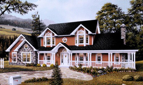 Farmhouse Exterior - Front Elevation Plan #57-135