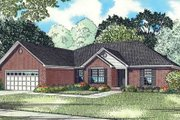 Southern Style House Plan - 3 Beds 2 Baths 1898 Sq/Ft Plan #17-2339 Exterior - Front Elevation