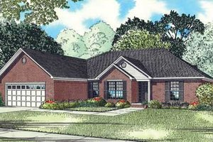 Southern Exterior - Front Elevation Plan #17-2339