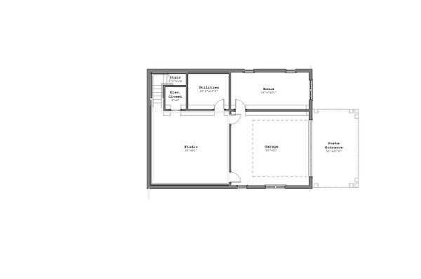 Craftsman Floor Plan - Lower Floor Plan Plan #926-5