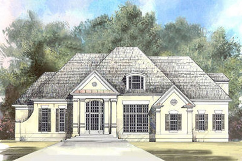 European Exterior - Front Elevation Plan #119-257