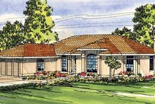 Home Plan - Mediterranean Exterior - Front Elevation Plan #124-251