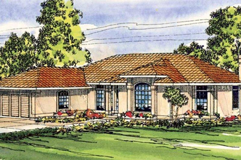 Mediterranean Style House Plan - 3 Beds 2 Baths 2105 Sq/Ft Plan #124-251