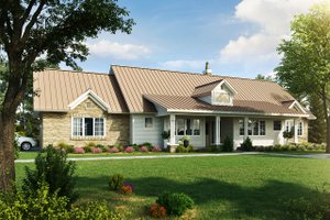 Home Plan - Country Exterior - Front Elevation Plan #942-57
