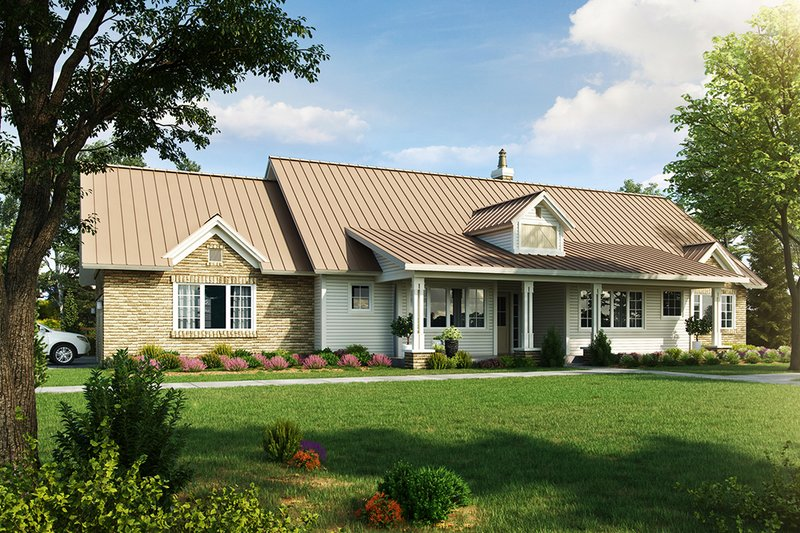 Country Style House Plan - 3 Beds 2.5 Baths 2251 Sq/Ft Plan #942-57 Exterior - Front Elevation