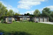 Modern Style House Plan - 4 Beds 4.5 Baths 4317 Sq/Ft Plan #48-926 Exterior - Front Elevation