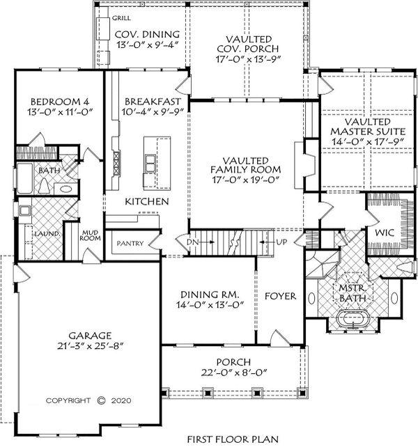 House Plan Design - Farmhouse Floor Plan - Main Floor Plan #927-1011