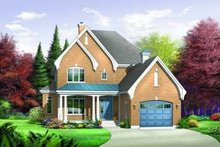 Dream House Plan - European Exterior - Front Elevation Plan #23-373