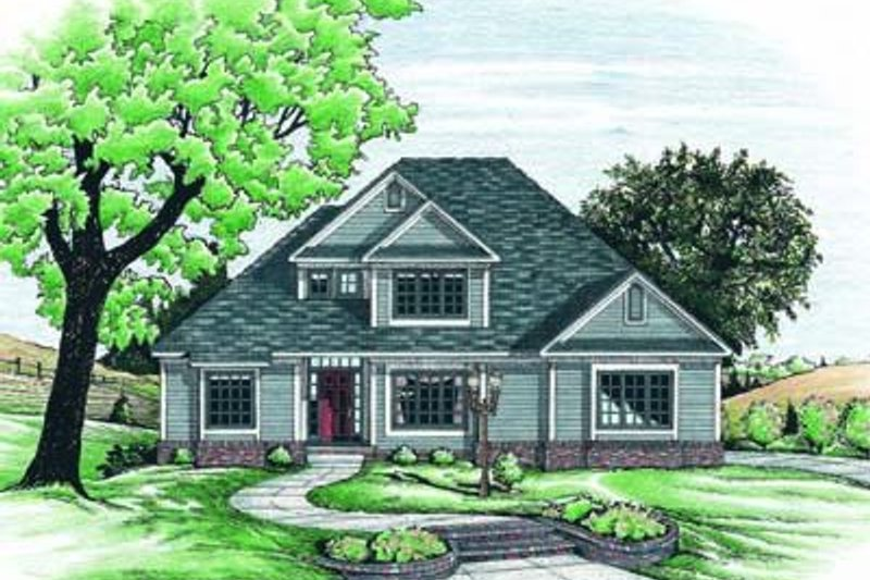 Traditional Exterior - Front Elevation Plan #20-775