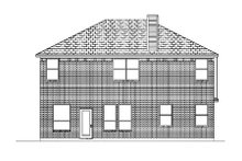 Home Plan - Traditional Exterior - Rear Elevation Plan #84-374