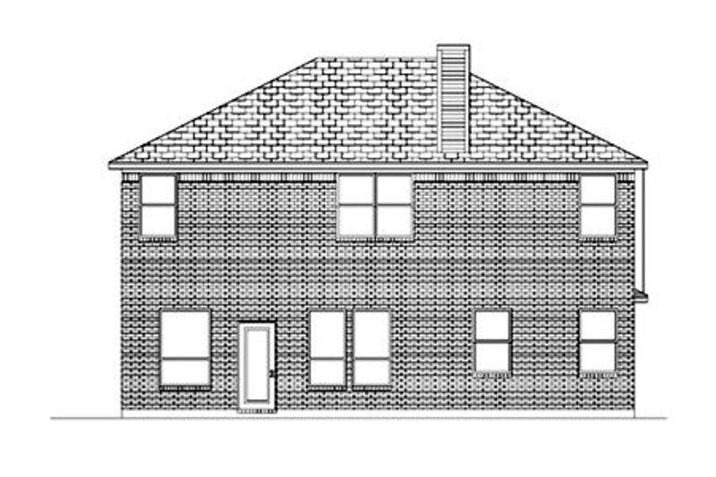 Traditional Exterior - Rear Elevation Plan #84-374 - Houseplans.com