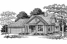 Traditional Exterior - Front Elevation Plan #70-312
