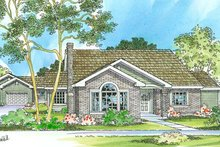 Traditional Exterior - Front Elevation Plan #124-353