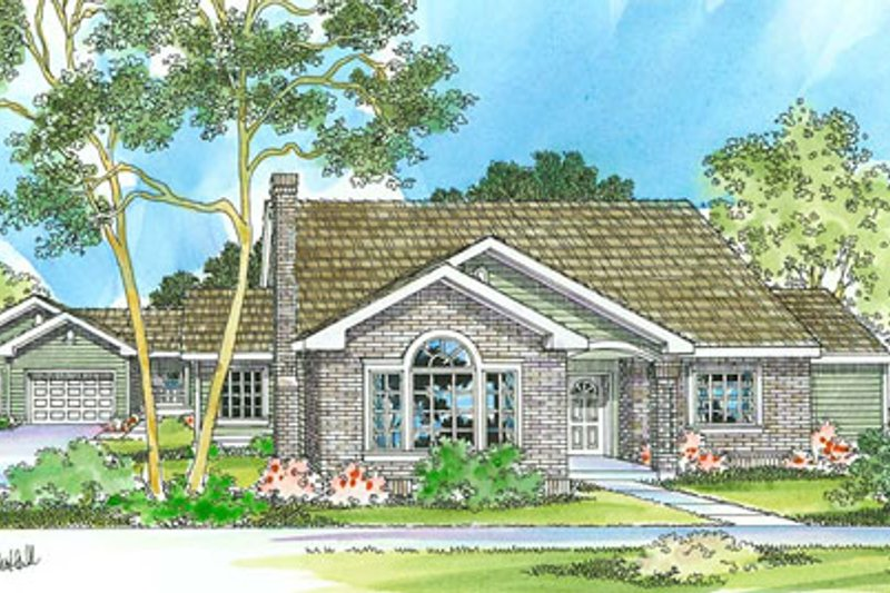 Traditional Exterior - Front Elevation Plan #124-353 - Houseplans.com