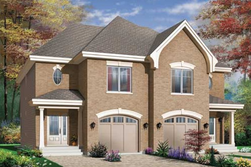 Dream House Plan - European Exterior - Front Elevation Plan #23-2171