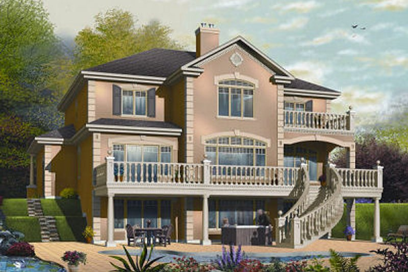 European Exterior - Front Elevation Plan #23-836 - Houseplans.com