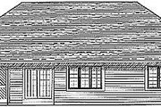 Traditional Style House Plan - 3 Beds 2 Baths 1540 Sq/Ft Plan #70-144 Exterior - Rear Elevation