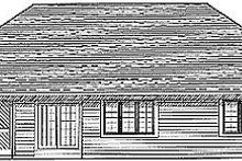 Dream House Plan - Traditional Exterior - Rear Elevation Plan #70-144