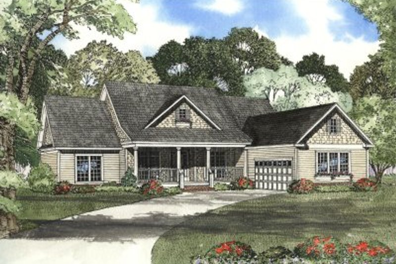 Farmhouse Style House Plan - 4 Beds 2.5 Baths 2354 Sq/Ft Plan #17-1118 Exterior - Front Elevation