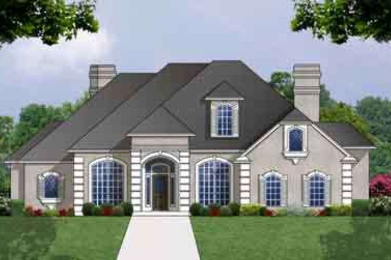 European Exterior - Front Elevation Plan #40-342 - Houseplans.com