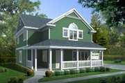 Farmhouse Style House Plan - 3 Beds 2.5 Baths 1759 Sq/Ft Plan #100-469 Exterior - Front Elevation
