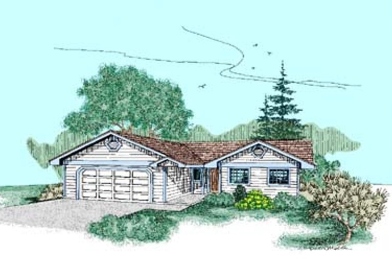 Traditional Exterior - Front Elevation Plan #60-447 - Houseplans.com